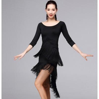 2db37c494b437 Sexy royal blue red purple women ballroom dress Latin Dance Dress lady  Professional Latin Skirt Samba
