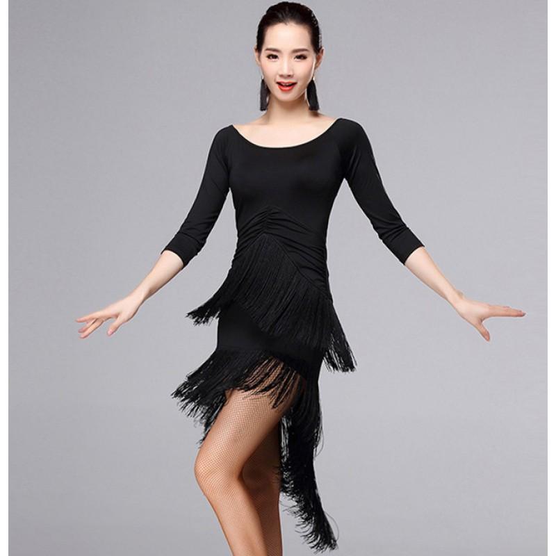 Sexy royal blue red purple women ballroom dress Latin Dance Dress lady  Professional Latin Skirt Samba Dance Latin Salsa Dresses