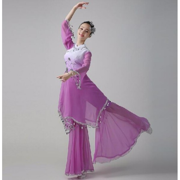 Violet hot pink green gradient Chinese Cheap Discount Women Ladies Ancient Chinese National Costume Traditional Chinese  sc 1 st  Wholesaledancedress.com & Violet hot pink green gradient Chinese Cheap Discount Women Ladies ...