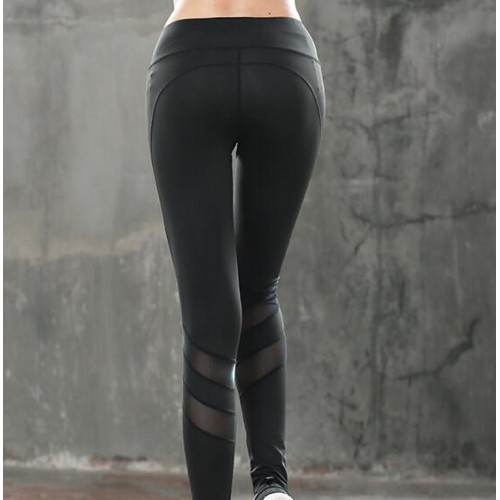 Black Women's gyms fitness yoga outdoor sports hot dry breathable leggings pants
