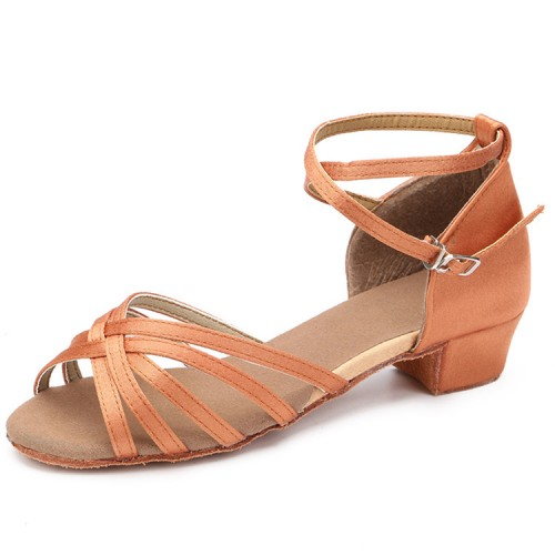 3df9c3fb7 Girls latin ballroom dance shoes competition stage performance salsa rumba  chacha dance sandal shoes