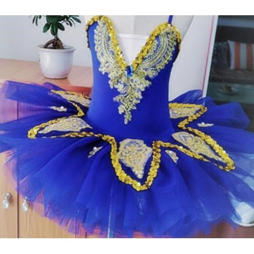 Professional Ballet Tutu dress Girls Gymnastic Dancing Dress Swan Lake Costume Ballet Leotards For children Kid Ballet Dress