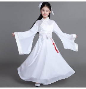 White girls fairy Chinese folk dance dresses kids children stage performance competition drama Korean japan kimono cosplay dancing dresses outfits
