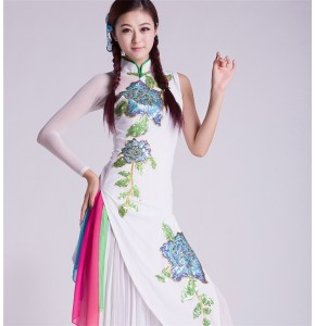 White one sleeves Cheap Discount Women Ladies Ancient Chinese National Costume Traditional Chinese Dance