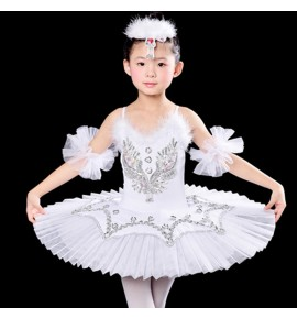White yellow red royal blue Children Feather Pancake Swan Lake Ballet Costume Ballerina Dress Kids Feminino Ballet Tutu Skirt Dance Dress For Girls