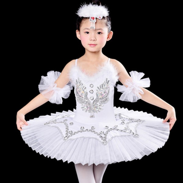 White yellow red royal blue Children Feather Pancake Swan Lake Ballet Costume Ballerina Dress Kids Feminino  sc 1 st  Wholesaledancedress.com & White yellow red royal blue Children Feather Pancake Swan Lake ...