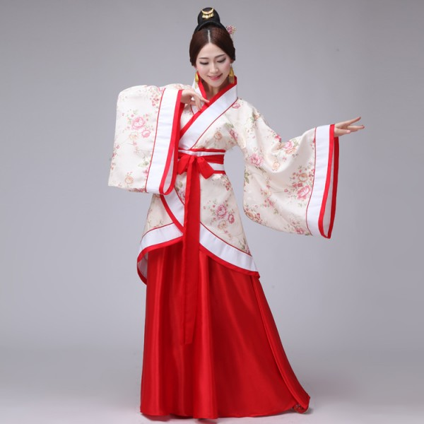1b6ae43ab Women Chinese Hanfu Clothes costume Ancient Chinese Cosplay Costume Tang  dynasty fairy - Material: PolyesterOntent : Top with robe and with sashes (