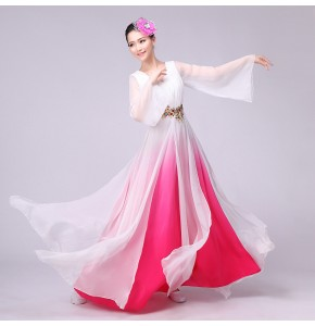 Women gradient color Tang Ancient Chinese Costume Beautiful Dance Costume Princess Dynasty Opera Chinese Dres
