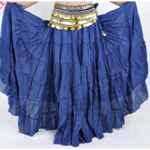 Women Tribal Belly Dance Skirt 12 Colors Lady Long Gypsy Skirts Linen Belly Dancing Practice/Performance Dress