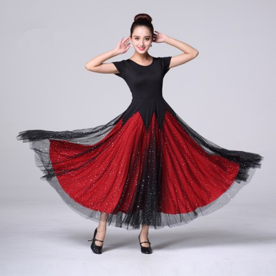 Women e ballroom dance dress stage performance competition salsa rumba  ballroom dancing long dresses af70f7d06