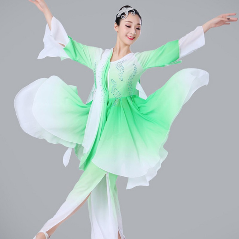 Women  s Chinese folk dance costumes ancient ethnic minority china fairy  cosplay stage performance fan competition yangko dancing dresses 464a0223a