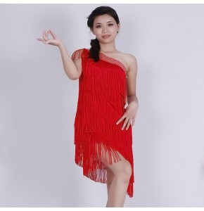 Women's latin dance dresses female  fringes competition salsa rumba chacha performance dresses