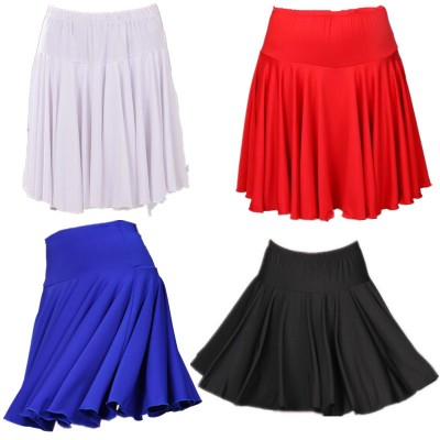 Women's plus size latin skirts red black competition stage performance rumba cha cha salsa dance skirts