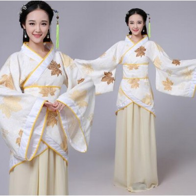 Yellow green violet Chinese Traditional Hanfu Ancient Tang Dynasty Costume Dress for Women Chinese Fairy Dresses dance costume Hanfu robe