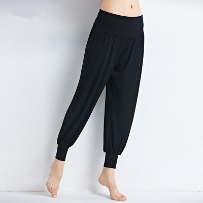 Yoga pants black long length women's female sports fitness running jogging yoga dance gyms practice bloomers pants