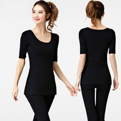 Yoga tops women's female yoga outdoor sports fitness gyms dance ballet performance running comfortable tops shirts