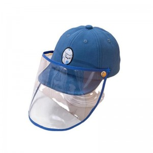 Kids anti direct splash saliva baseball cap with clear face shield  sun protection protective hat for baby