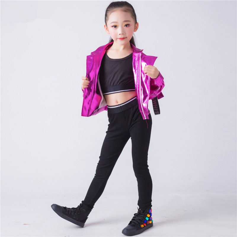 65f70629c Kids hiphop modern dance costumes for girls boys street dance outfits ...