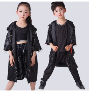Kids hiphop street dance outfits  modern dance singers gogo dancers stage performance show competition model dancing clothes
