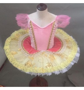 Kids little swan lake tutu skirt ballet dance dress classical ballerina dress robe de danse classique rose pour enfant