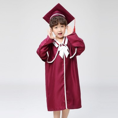 kids school graduation stage performance school uniforms costumes doctor bachelor school photography dress