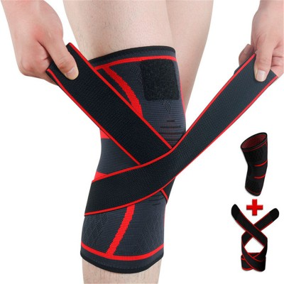 Knitted sports gyms knee pads badminton running fitness knee pads outdoor climbing Hiking knee pads for unisex