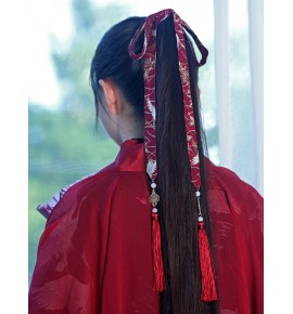 Women girl's chinese hanfu hair tie ribbon fairy princess drama cosplay hair accessory photos shooting hair belt
