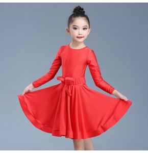 Latin dance dress girls red violet practice clothes professional competition performance clothing children's examination clothing