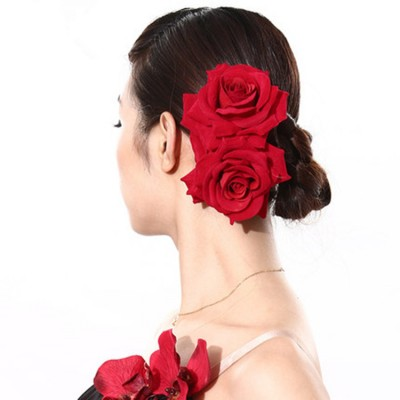 Latin dance headdress Spanish bull dance adult children's head flower professional stage performance hair accessories flowers