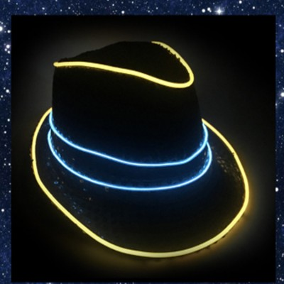 Led hats for men's male  modern dance jazz hipop pole dance  street stage performance cosplay hat