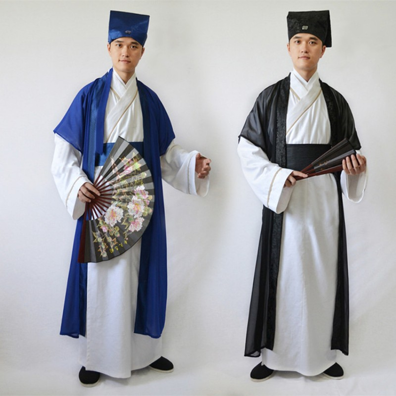 Men's Chinese folk dance costumes hanfu ancient traditional stage performance ancient Confucius scholar drama cosplay dresses
