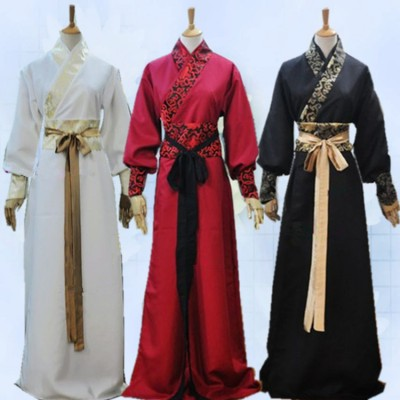 Men's Chinese folk dance costumes male ancient classical ancient scholar traditional hanfu knight drama cosplay stage performance robes