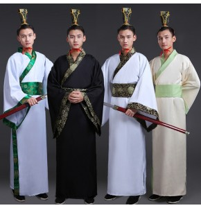 Men's Chinese folk dance dresses ancient traditional hanfu drama warrior swordsmen cosplay dresses robes