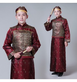 Men's Chinese traditional ancient qing dynasty performance costumes prince drama cosplay robes costumes emperor cosplay robes