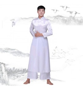 Men's Chinese traditional folk dance costumes hanfu kungfu martial wushu traditional classical dance costumes