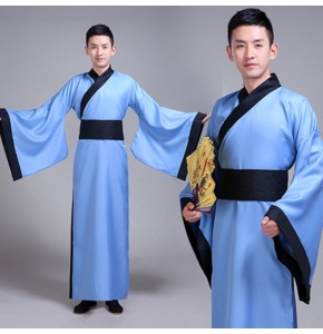Men's Chinese traditional Hanfu tang emperor suit china warrior swordsmen stage performance cosplay robes costumes