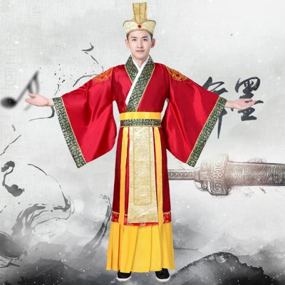 Men's hanfu ancient traditional chinese emperor drama cosplay dragon robes