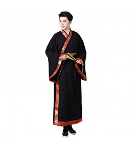 Men's hanfu china traditional ancient emperor drama film cosplay robes stage performance costumes