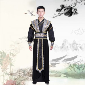 Men's hanfu chinese ancient traditional swordsman knight drama cosplay robes costumes