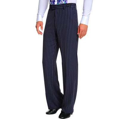 Men's striped ballroom dance long pants competition latin salsa chacha rumba dancing long trousers