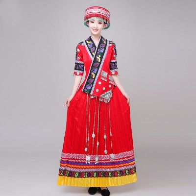 Miao hmong Minority performance costumes Female Yi performance costumes