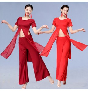 Modern dance dresses for women female belly dance black red white stage performance classical traditional dance costumes