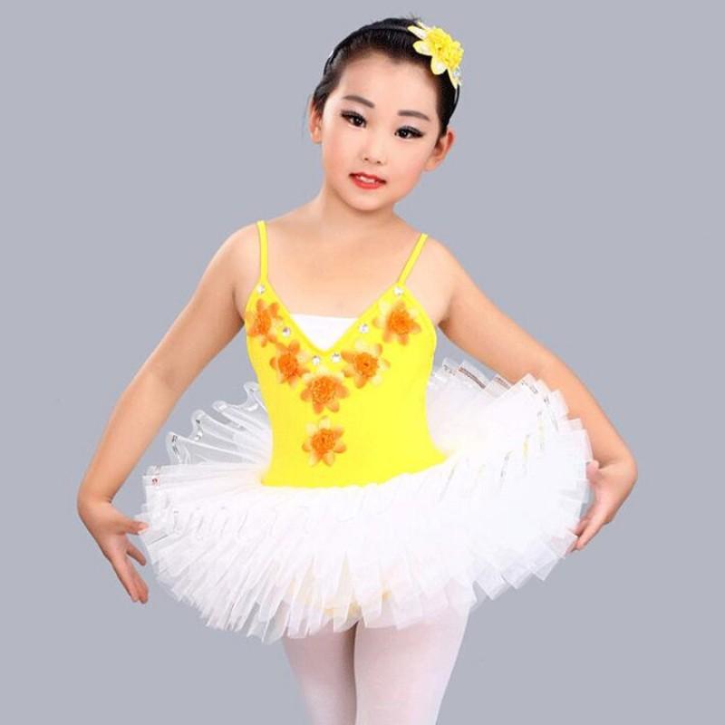 f5087d4b682c Modern dance little swan lake ballet dance dresses for girls ...