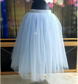 Modern dance long ballet dance skirts for kids children ballet dance costumes jupe de danse classique bleu pour enfants