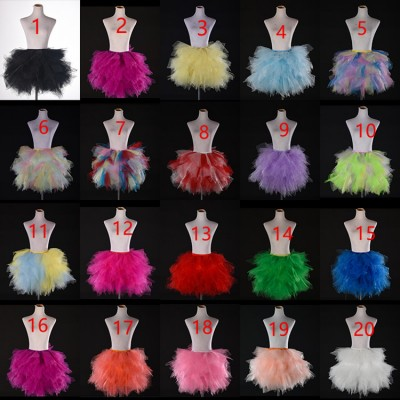 Modern dance stage performance ballet tutu skirt for girls women drama photography model show cosplay pettiskirt princess skirts