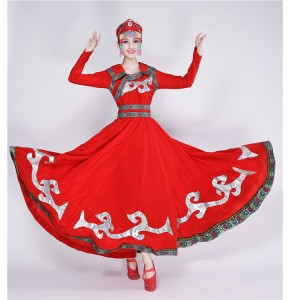 Mongolian dresses stage performance chinese folk dance minority mongolian drama cosplay concert perfromance dresses robes