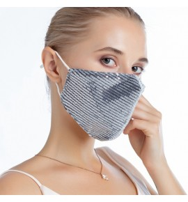 Reusable face masks for women and men fashion sequin cotton mouth mask