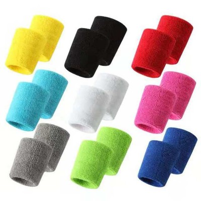 Sports running yoga gyms Sweat-absorbent wrist towel for women and men one pair