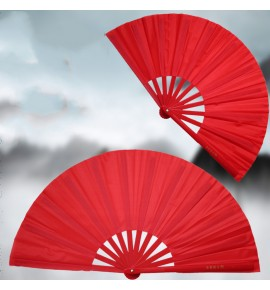 Tai Chi fan Kung Fu fan sound fan red high-end dance fan adult  plastic bone martial arts fan one piece