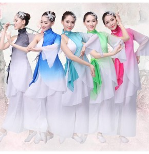 Traditional Chinese folk dance costume for female women minority stage performance dance costumes yangko women clothing Dance wear